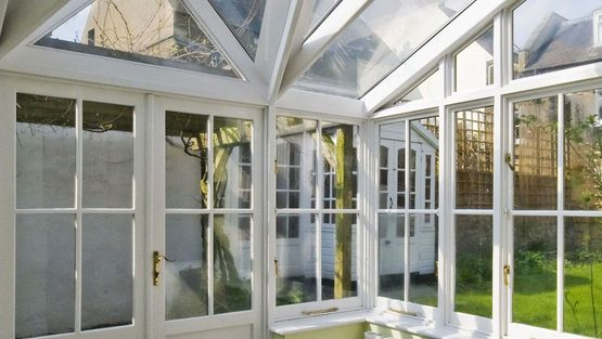 A conservatory that we added secondary glazing frames to